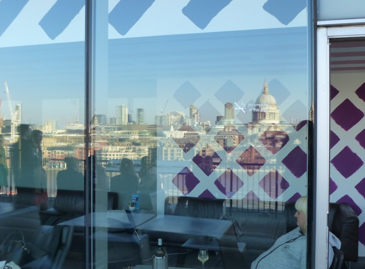 St Pauls reflected in glass