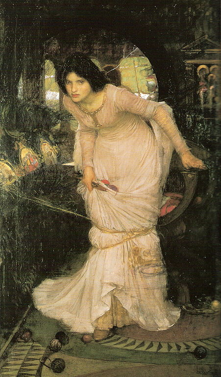 Waterhouse, the Lady of Shalott looking at Lancelot