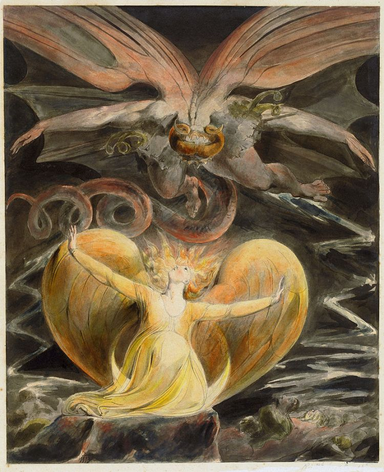 Blake, the great red dragon and the woman clothed in the Sun