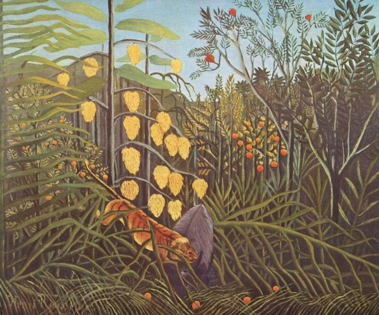 Rousseau, Combat de tigre et de buffle