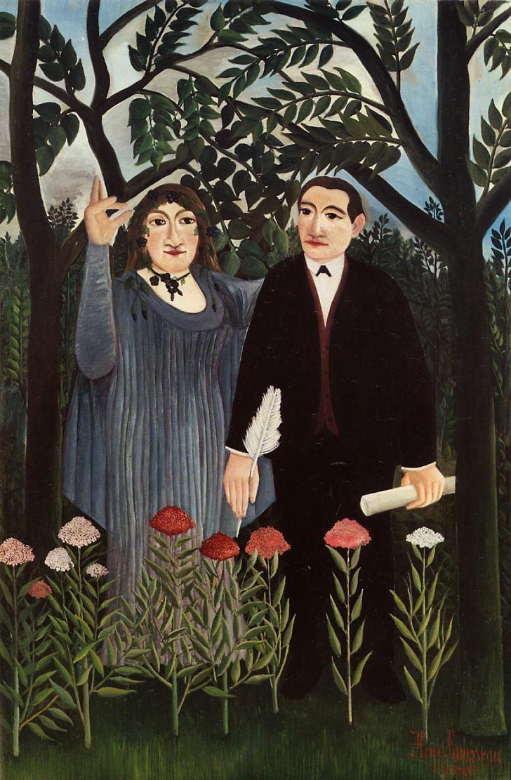 Rousseau, la muse inspirant le poete