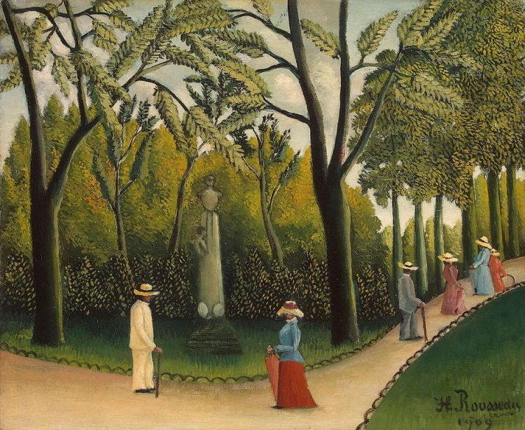 Rousseau, the Monument to Chopin in the Luxembourg Gardens