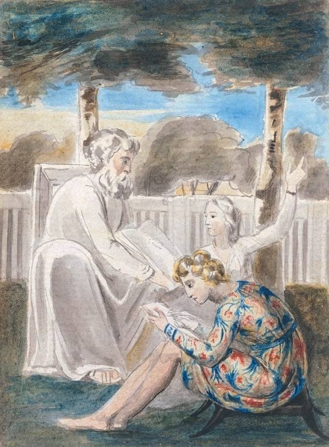 Age Teaching Youth circa 1785-90 William Blake 1757-1827 Bequeathed by Miss Alice G.E. Carthew 1940 http://www.tate.org.uk/art/work/N05183