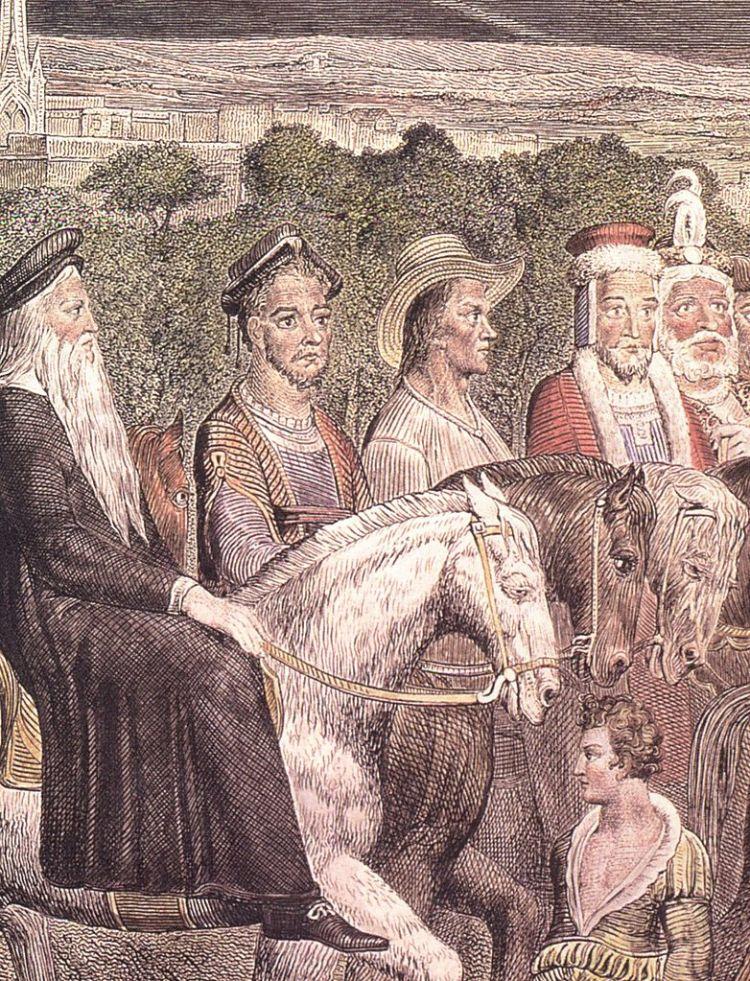Blake, Canterbury pilgrims detail