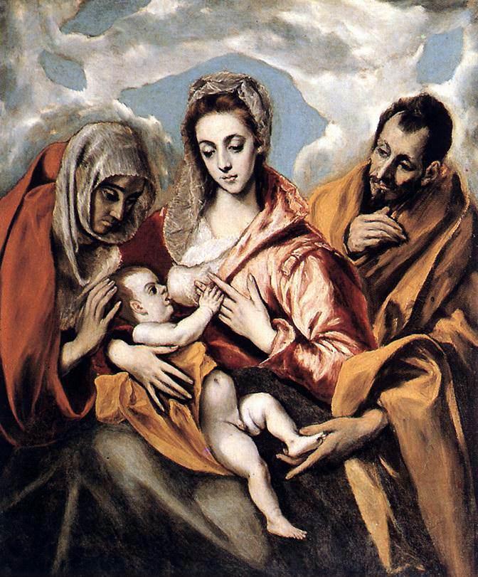 El Greco, Sagrada Familia con Santa Ana Tavera