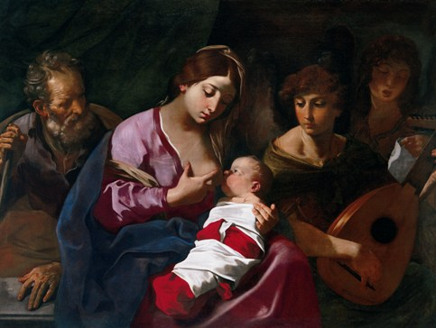 Flaminio Torri, Holy family with Angel musicians