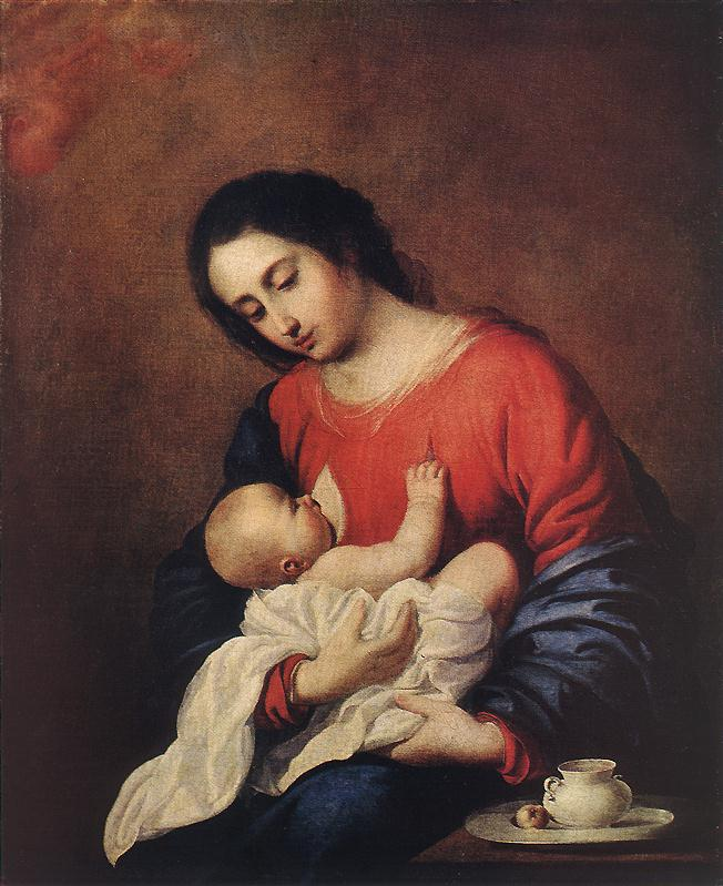 Francisco de Zurbaran, madonna and child