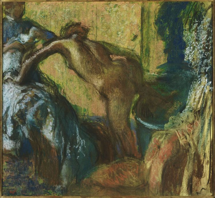 Degas, after the bath