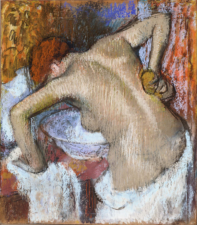 Degas, woman sponging her back