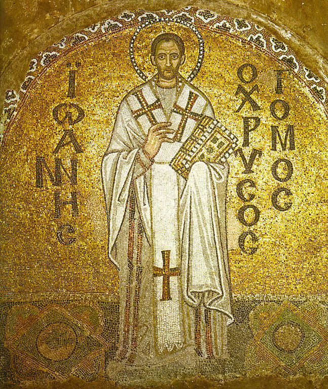 Hagia Sophia mosaic of John Chrysostom