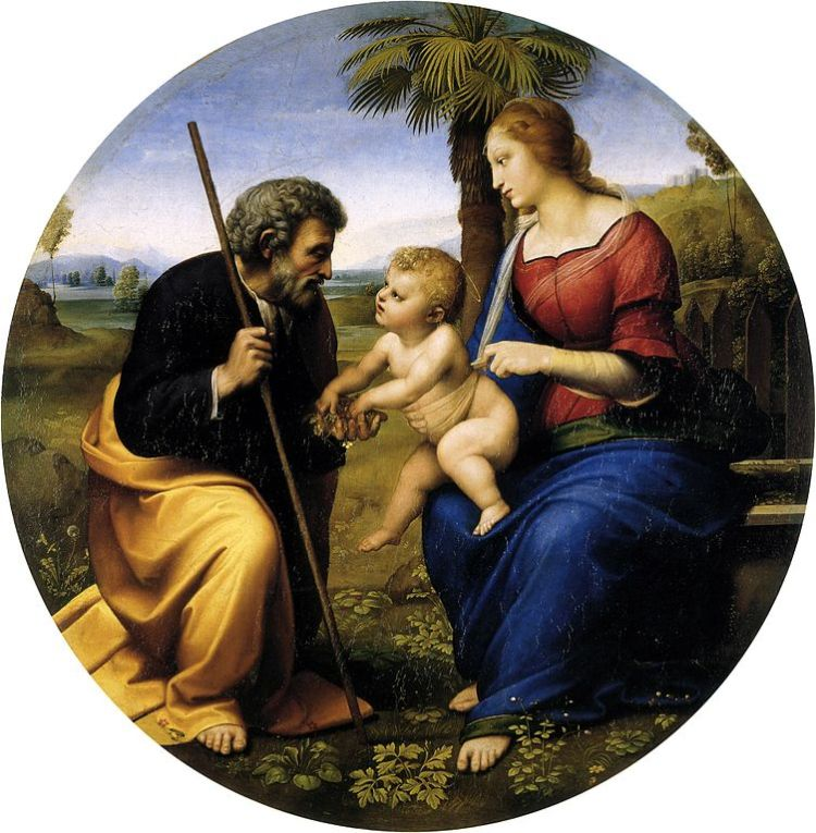 Raphael, the Holy Family with a palm tree
