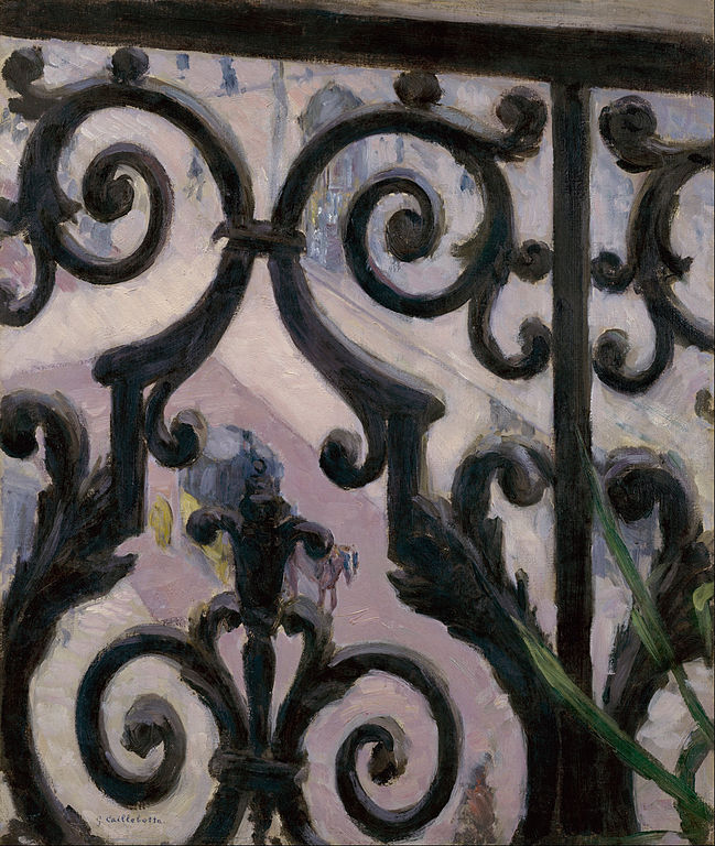 Caillebotte, detail from view from a balcony
