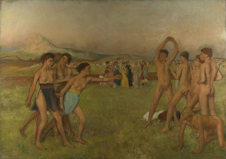 Degas Young Spartans exercising