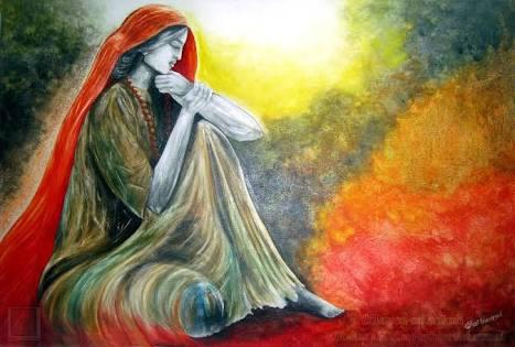 flowing woman