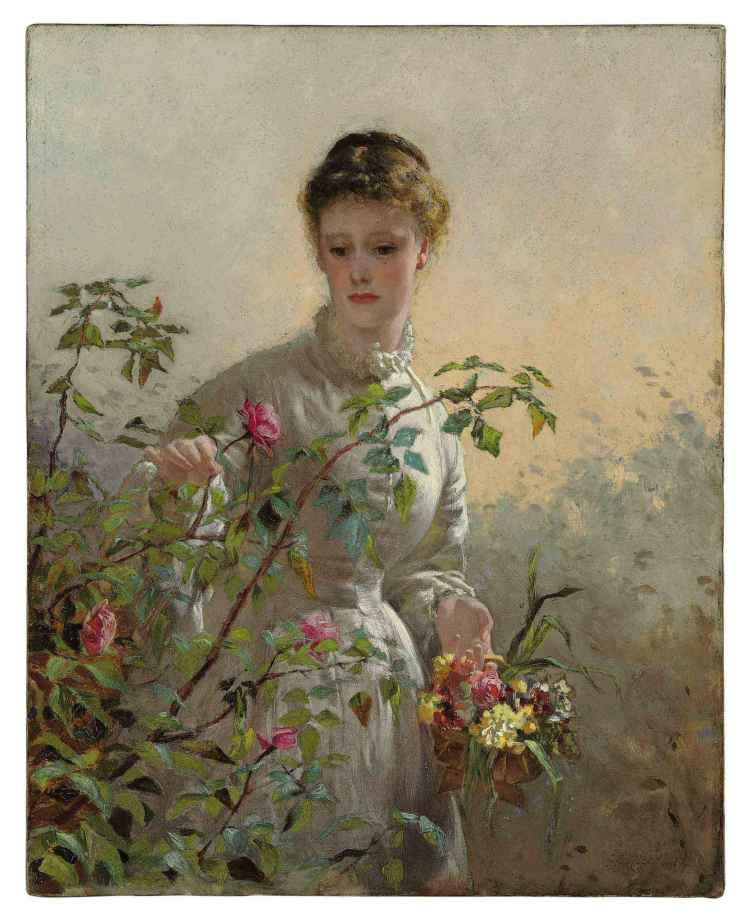 George Elgar Hicks, A summer bouquet