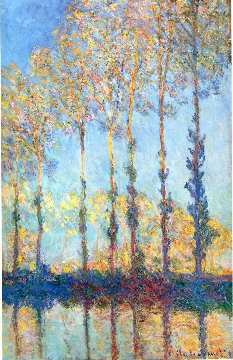 Monet Poplars Epte 1891
