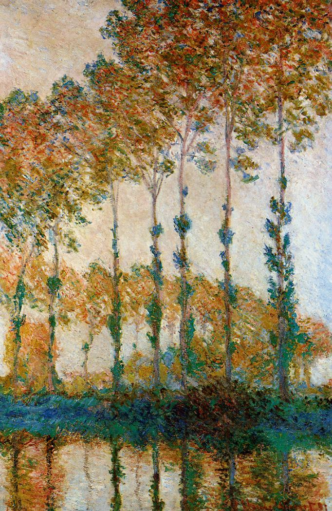 Monet Poplars Epte Autumn