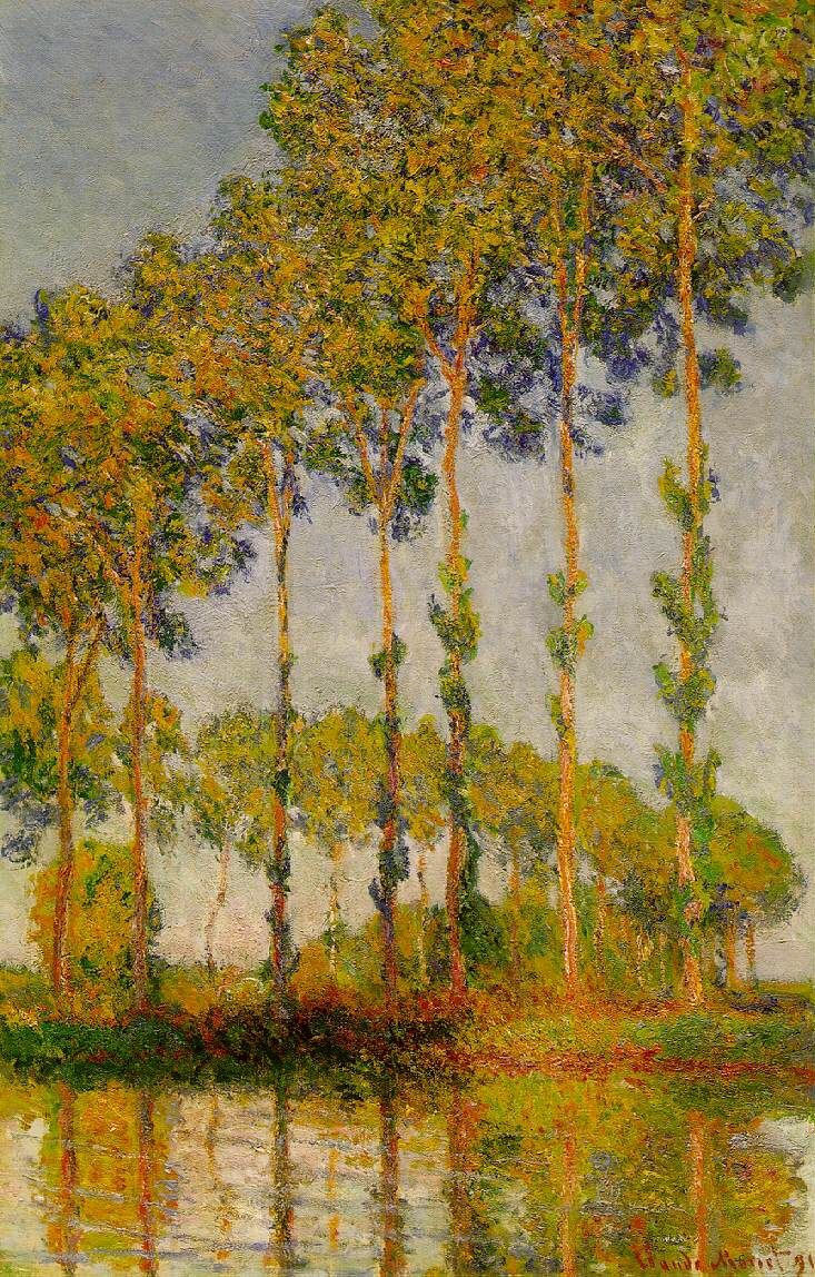 Monet Poplars Epte in Autumn