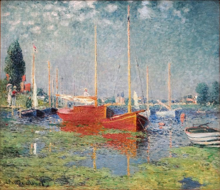 Monet, Red boats at Argenteuil