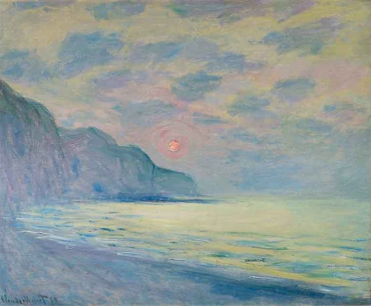 Monet sun setting