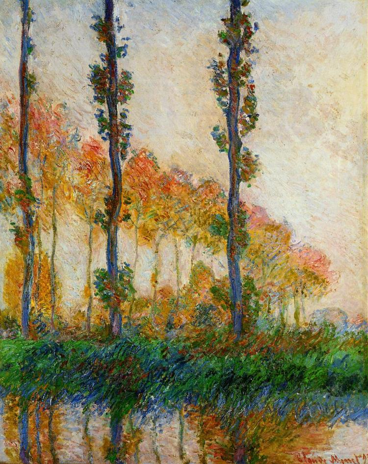 Monet the three trees Autumn 1891