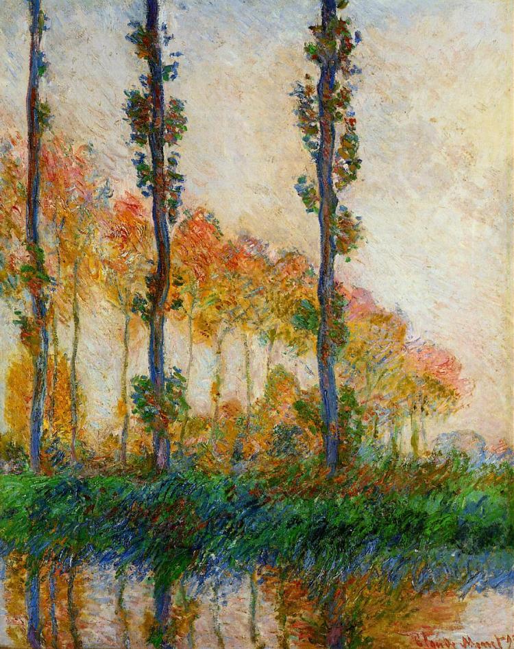 Monet the three trees Autumn 1891