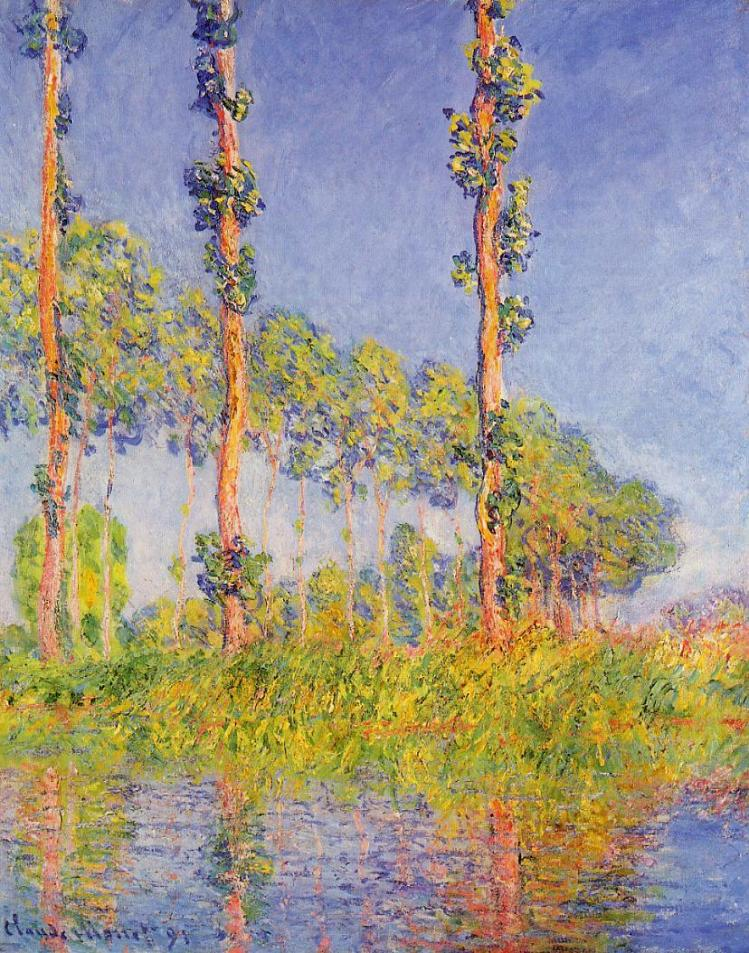 Monet the three trees Autumn effect