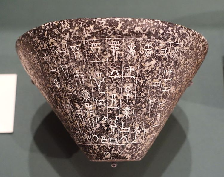 Stone bowl offered to Inanna