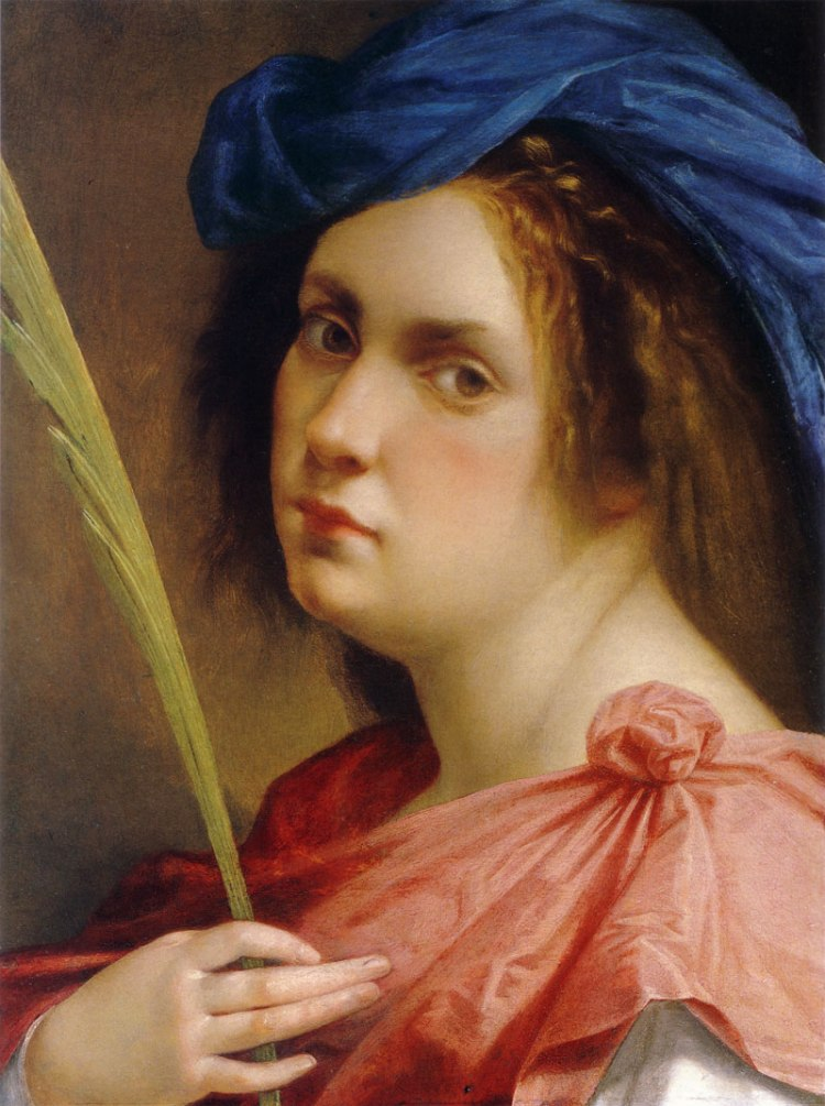 Artemisia Gentileschi, self-portrait as a martyr
