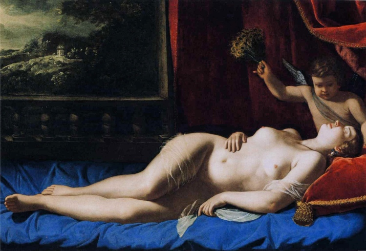 Artemisia Gentileschi, sleeping Venus