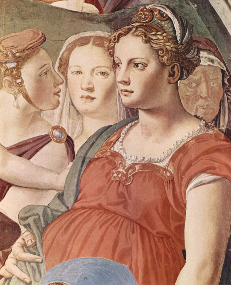 Bronzino, fresco from the chapel of the old palace in Florence, 3