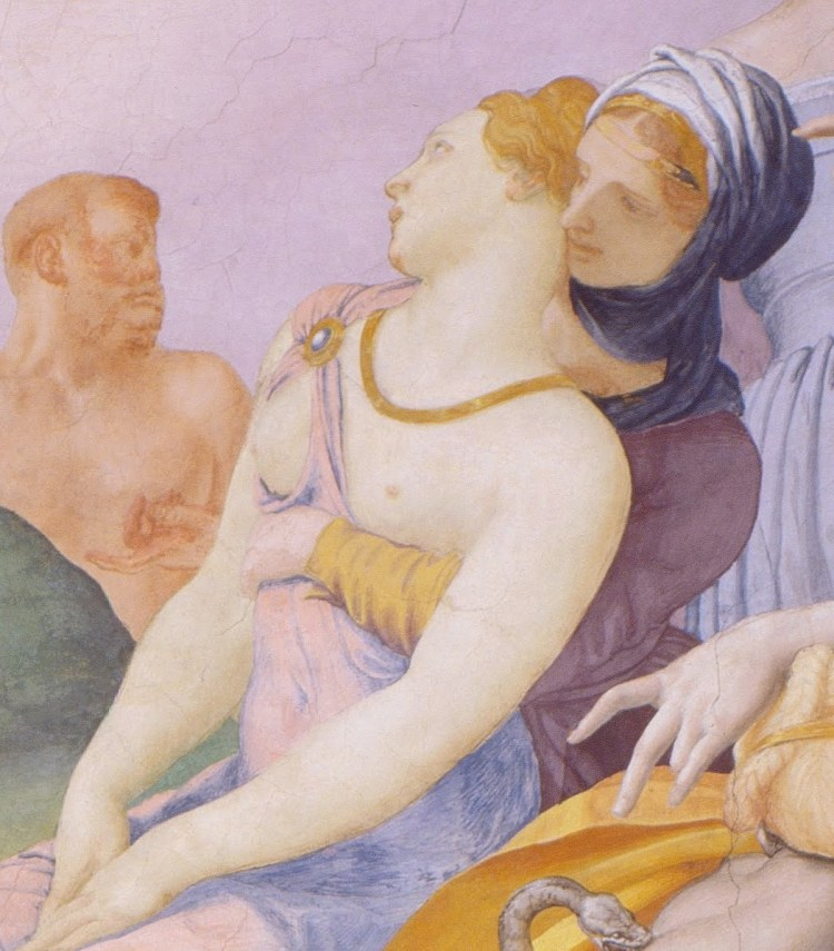 Bronzino, the adoration of the bronze snake, detail 3