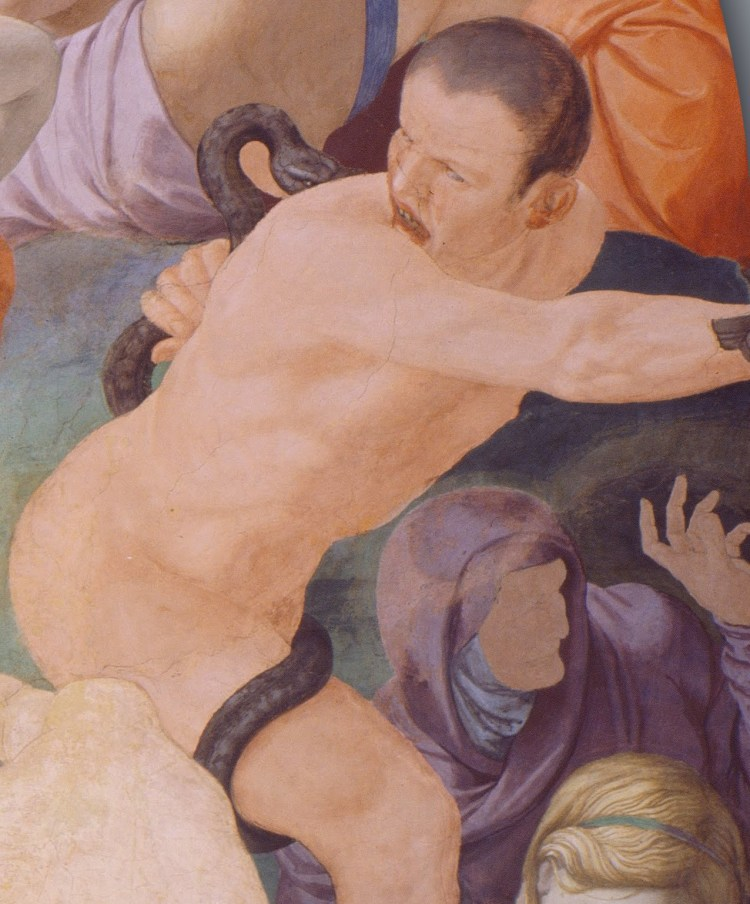 Bronzino, the adoration of the bronze snake, detail 4