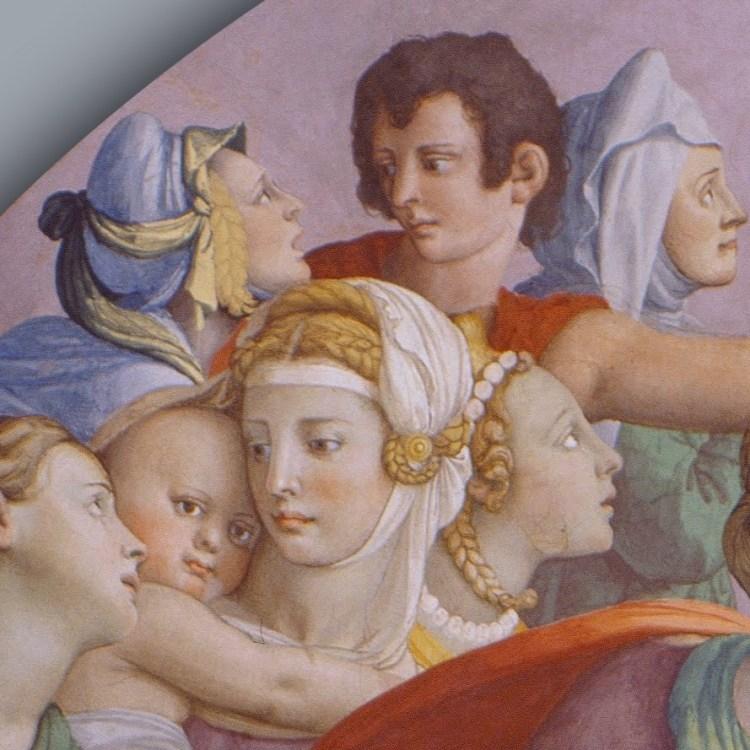Bronzino, the adoration of the bronze snake, detail 5