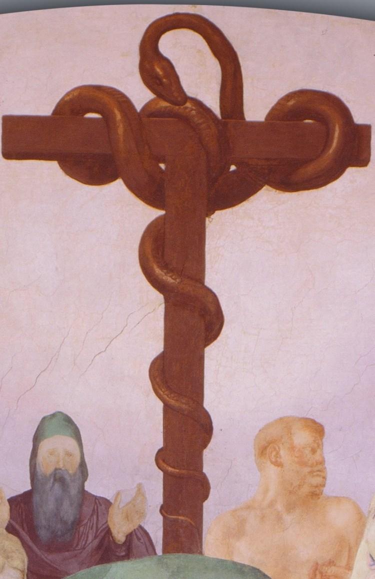 Bronzino, the adoration of the bronze snake, detail 7