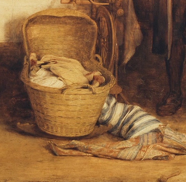 David Wilkie, Distraining for rent, detail 3