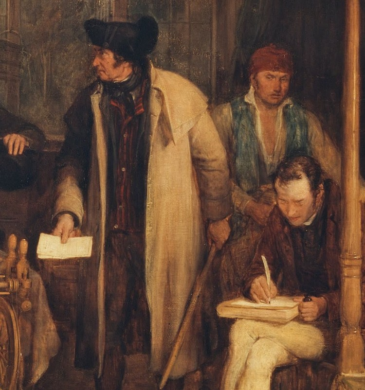 David Wilkie, Distraining for rent, detail 4