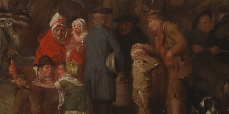 David Wilkie, Pitlessie Fair, detail 2