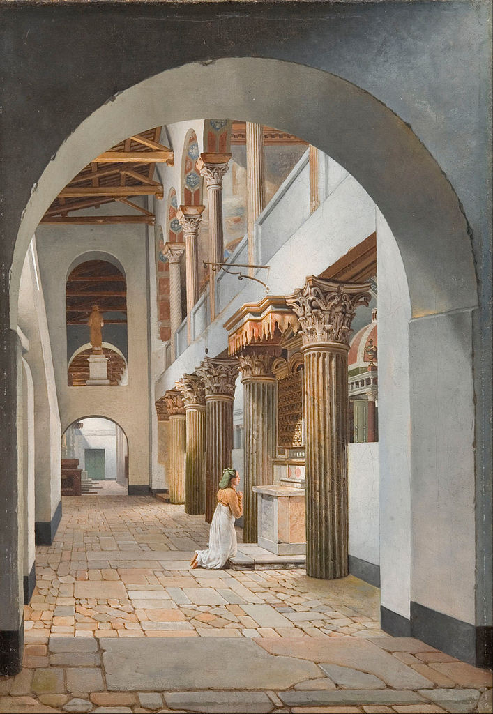 Eckersberg, View of the Church of San Lorenzo fuori le Mura