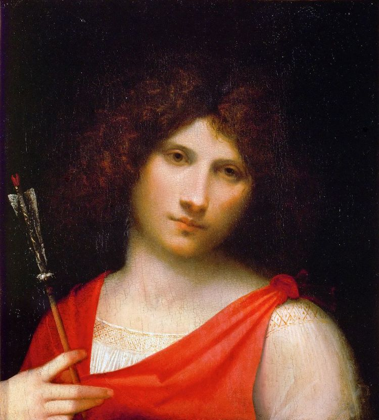 Giorgione, Young man with arrow