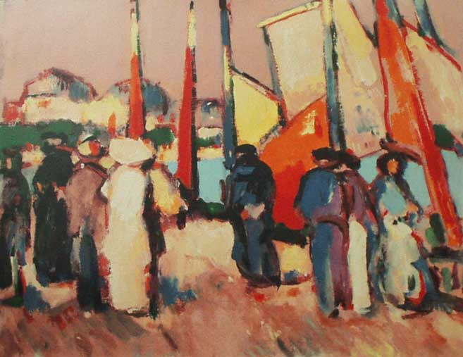 JD Fergusson People and sails