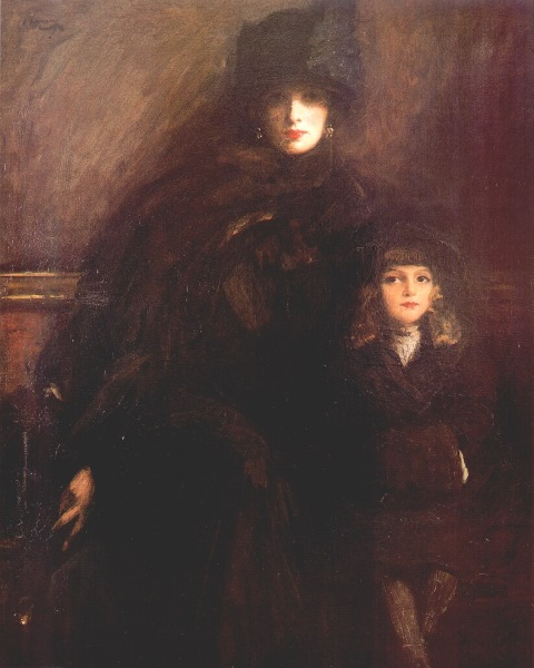 John Lavery, Mrs Lavery and child