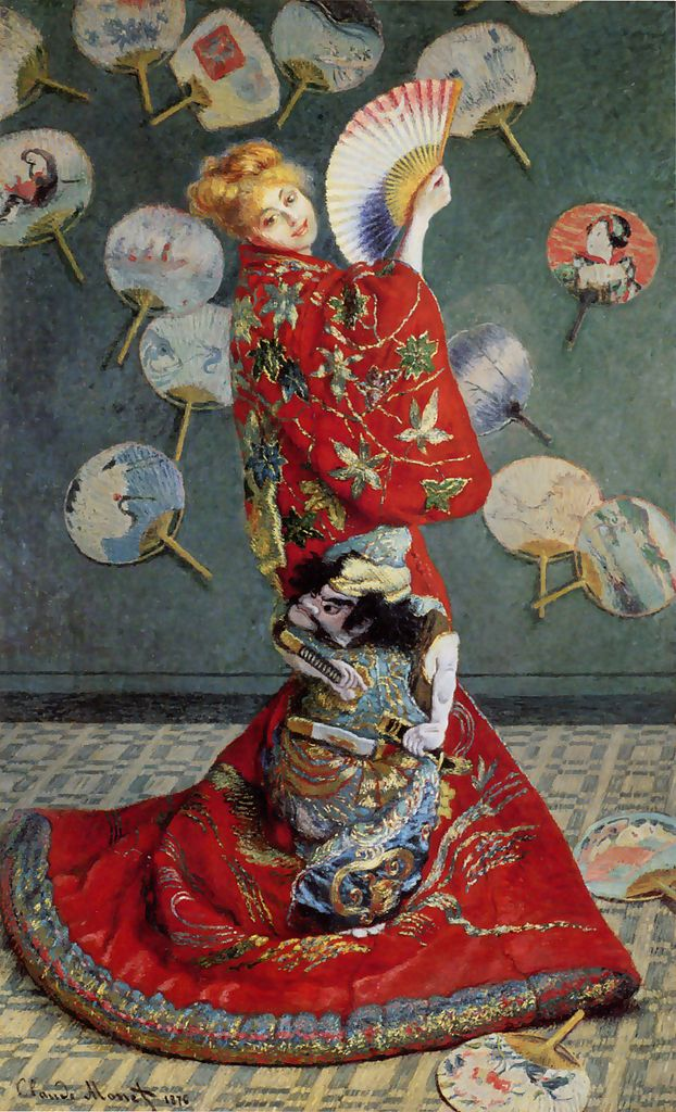 Madame Monet in Japanese Costume
