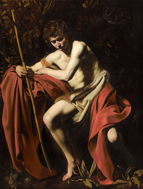 Caravaggio, John the Baptist in the wilderness