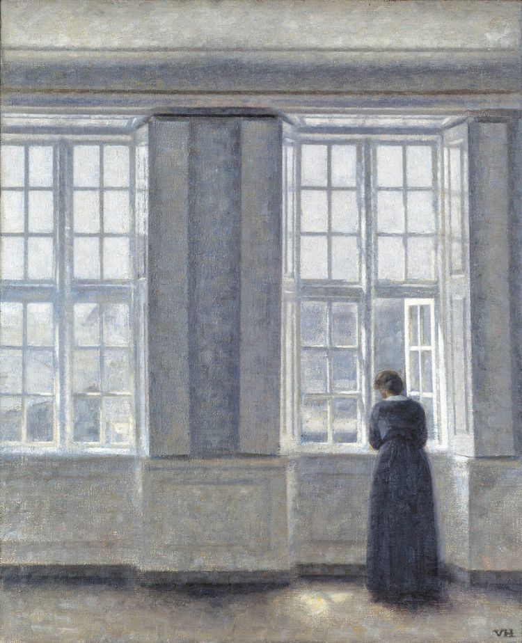 Hammershoi, tall windows
