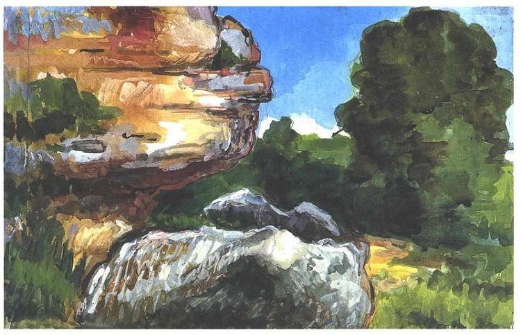 Cezanne, rocks