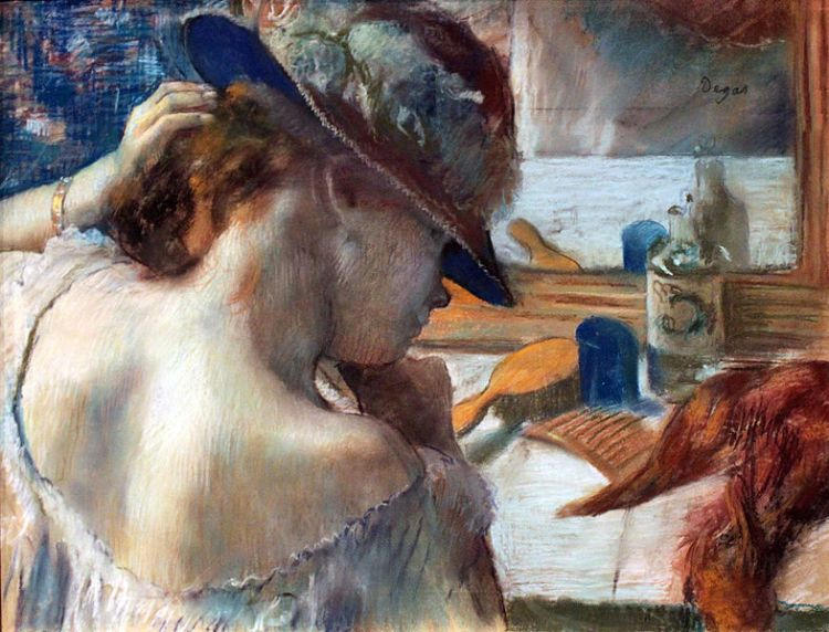 Degas, before the mirror