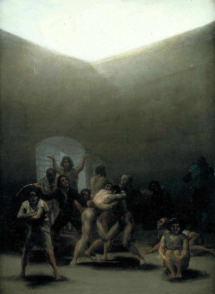 Goya, courtyard with lunatics
