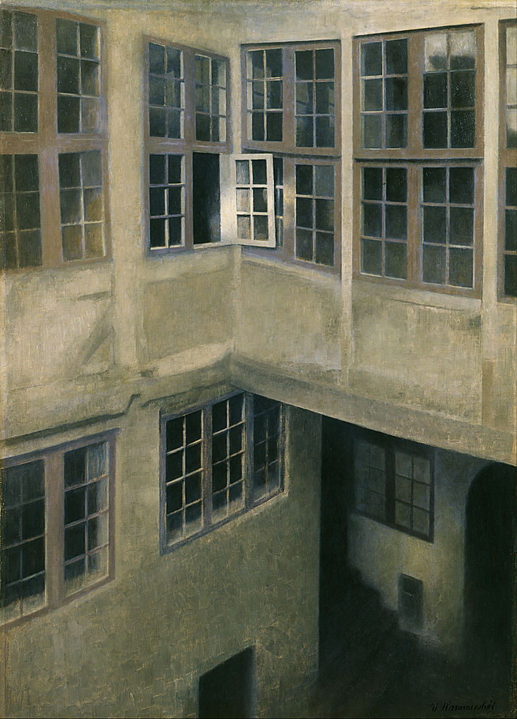 Hammershoi, interior of courtyard