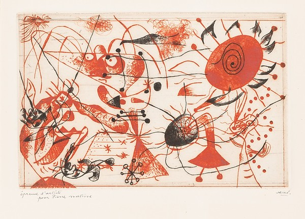 Miro, untitled etching